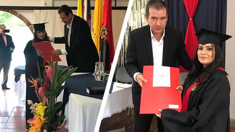Graduación Lucero Sànchez Teóloga UNICATÓLICA