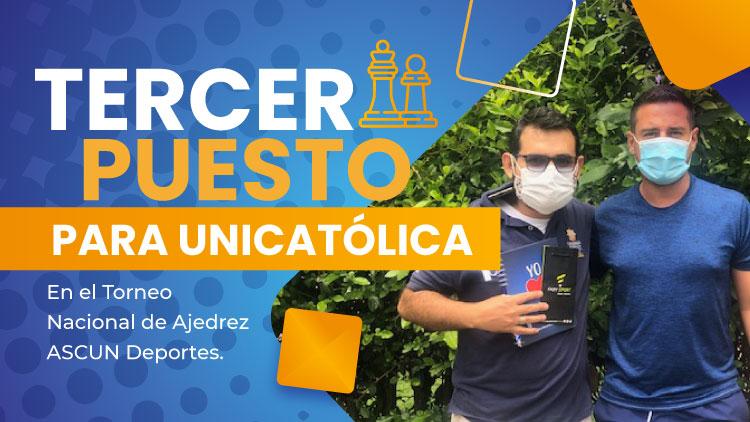 Juan Gabriel Rodríguez Tercer Puesto Torneo de Ajedrez Blitz Masculina