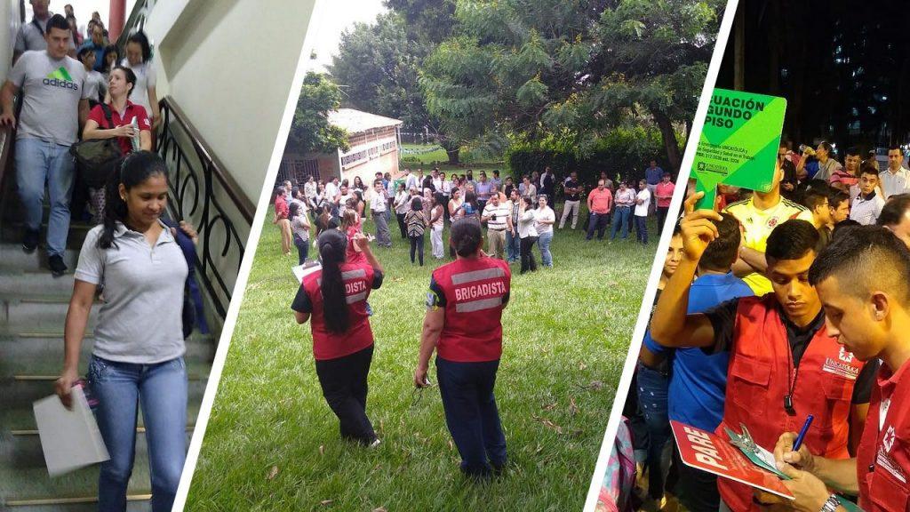 Participación simulacros de evacuación